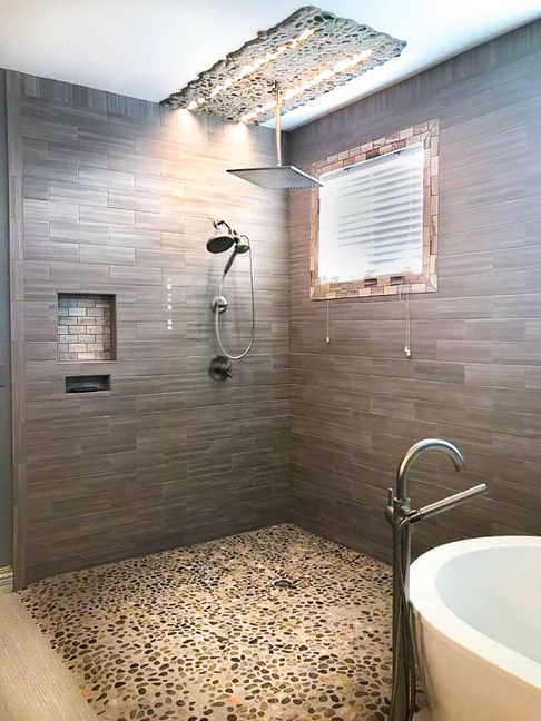 Custom Bathroom Design and Bathroom Remodel Completed By Premium Design LLC.