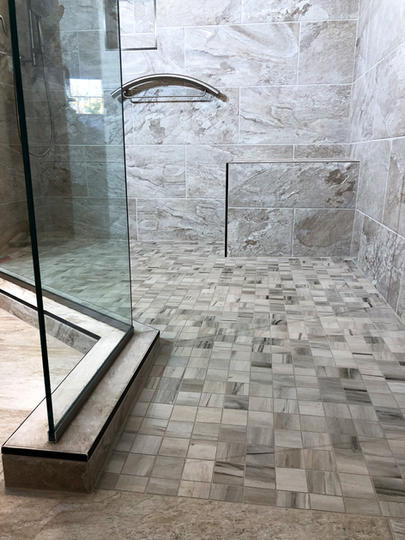Shower Remodel Completed By Premium Design LLC.