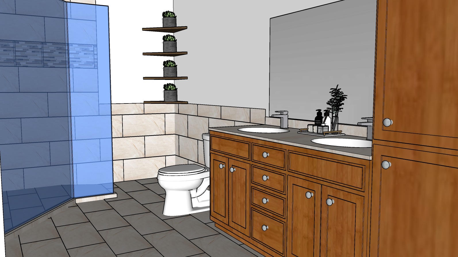 3D Bathroom Remodel Imagery