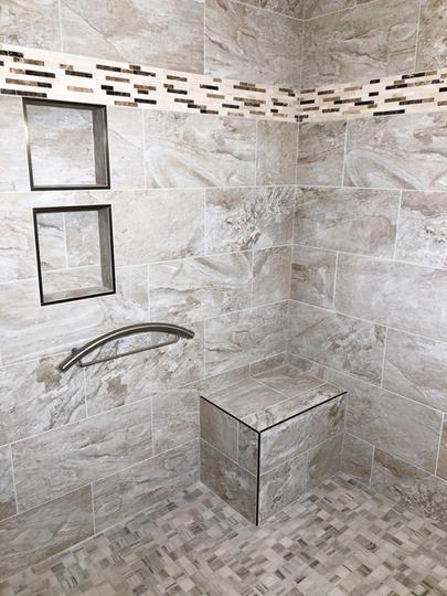 Custom Handlebar For This Custom Bathroom Design Completed By Premium Design LLC.