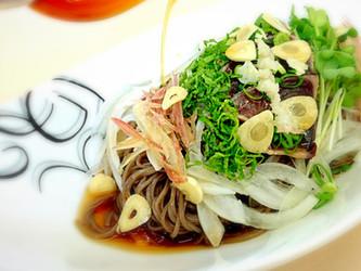 Hijiki noodles with  Lemon  / レモンでさっぱり ひじき麺