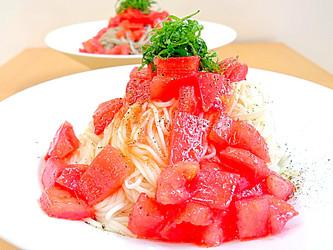 Cappellini made with tomato&Somen  /トマトの冷製そうめんカッペリーニ