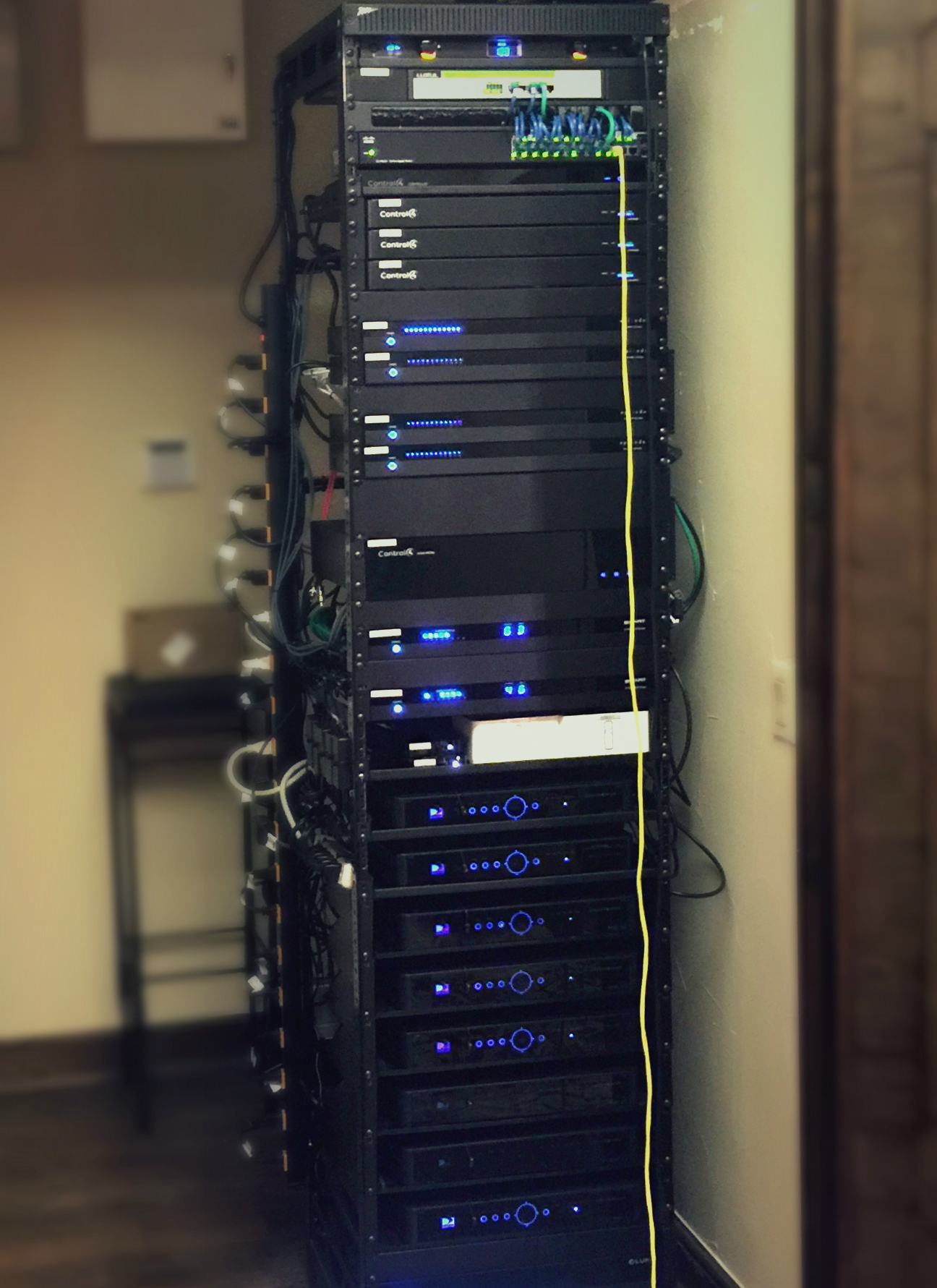 Home Automation and AV Rack
