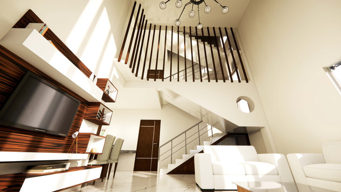 DOUBLE HEIGHT DRAWING ROOM