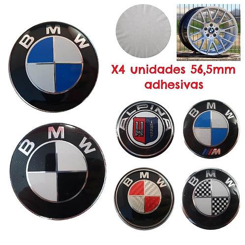 Logo - Emblema BMW Llantas 56.5 mm (X4 unidades)