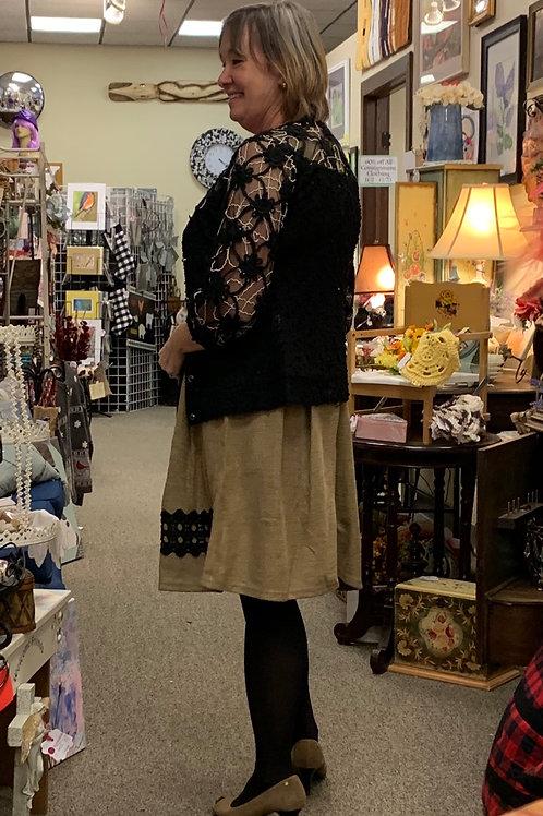 Black lace cardigan