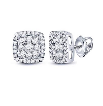 0.75 CTW Diamond Composite Stud Earrings