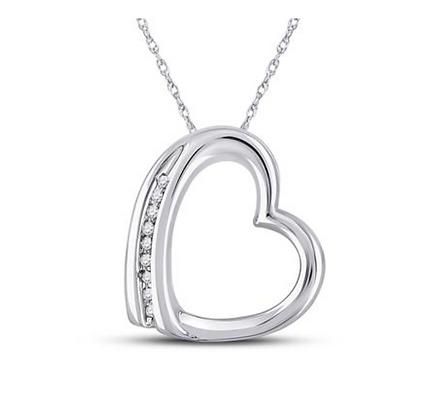 0.03 CTW Diamond Heart Pendant