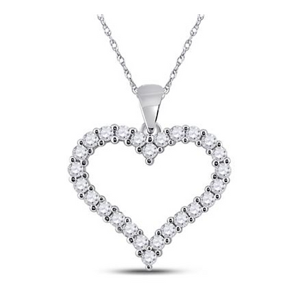 2.00 CTW Diamond Heart Pendant