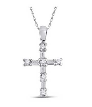 0.25 CTW Diamond Cross Pendant