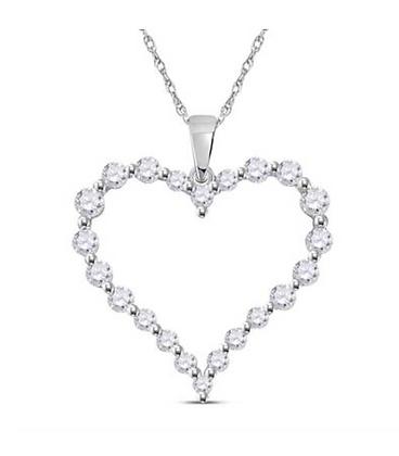1.00 CTW Diamond Heart Pendant