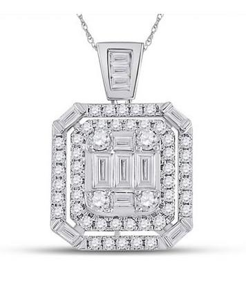 0.90 CTW Diamond Composite Pendant