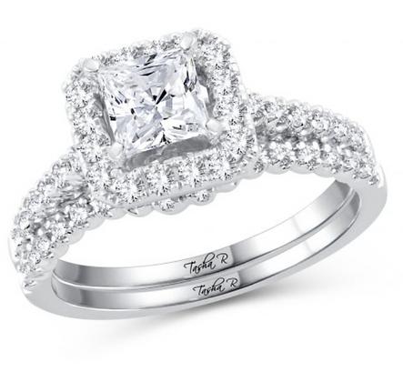 1.51 CTW (1.00 CTR) Diamond Tasha R Bridal Set