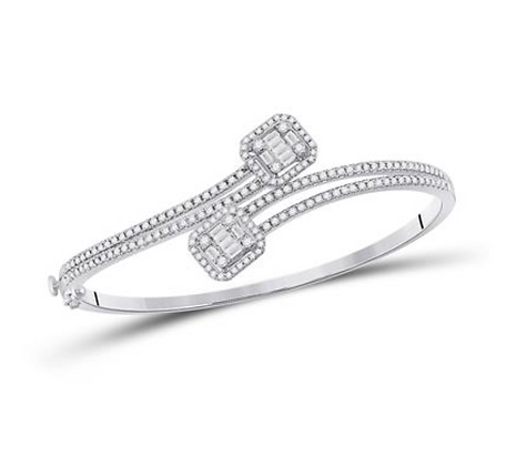 1.35 CTW Diamond Bangle Bracelet