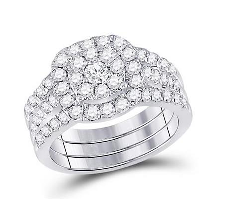 1.50 CTW Diamond Bridal Three Piece Set