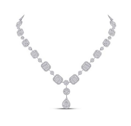 6.65 CTW Diamond Composite Necklaces