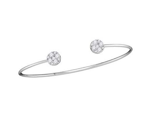 0.75 CTW Diamond Bangle Bracelet