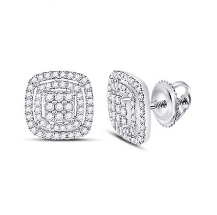 0.50 CTW Diamond Composite Stud Earrings