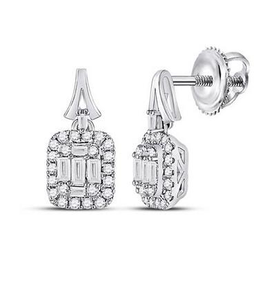 0.50 CTW Diamond Dangling Earrings