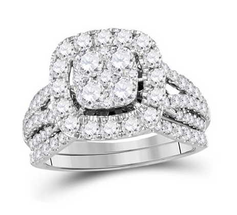 2.00 CTW Diamond Bridal Set