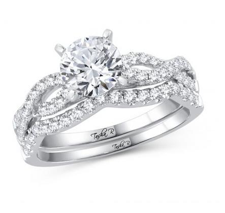 1.53 CTW (1.00 CTR) Diamond Tasha R Bridal Set