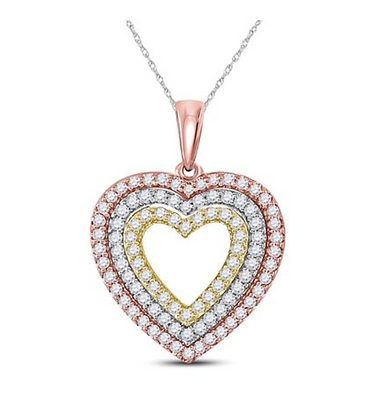 0.50 CTW Diamond Heart Pendant