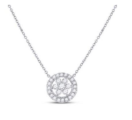 0.35 CTW Diamond Composite Pendant