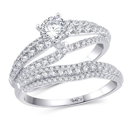 1.42 CTW (0.54 CTR) Diamond Tasha R Bridal Set