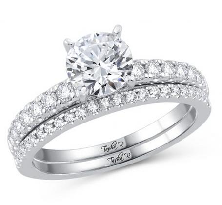 1.35 CTW (1.00 CTR) Diamond Tasha R Bridal Set