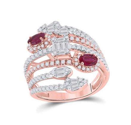 1.75 CTW Diamond & Genuine Ruby Fashion Ring