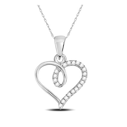 0.10 CTW Diamond Heart Pendant