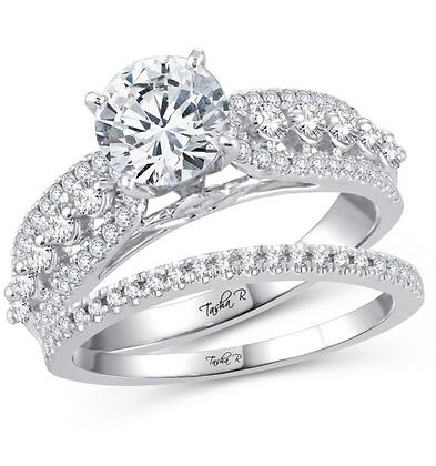0.75 CTW (0.33 CTR) Diamond Tasha R Bridal Set