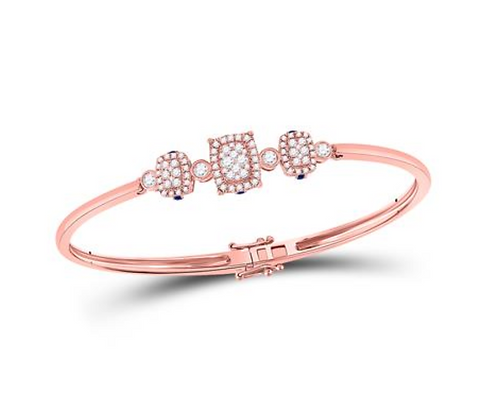 0.90 CTW Diamond & Sapphire Bangle Bracelet