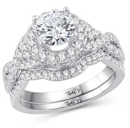 1.75 CTW (1.00 CTR) Diamond Tasha R Bridal Set