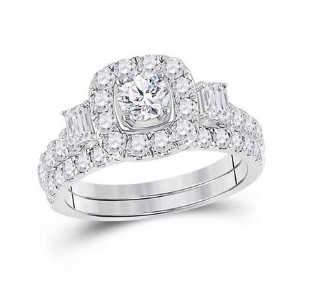 2.00 CTW Certified Diamond Bridal Set