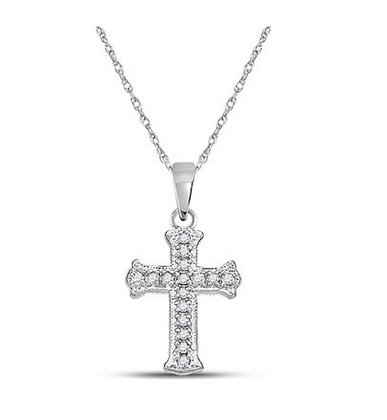 0.08 CTW Diamond Cross Pendant