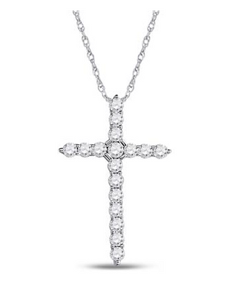 0.50 CTW Diamond Cross Pendant