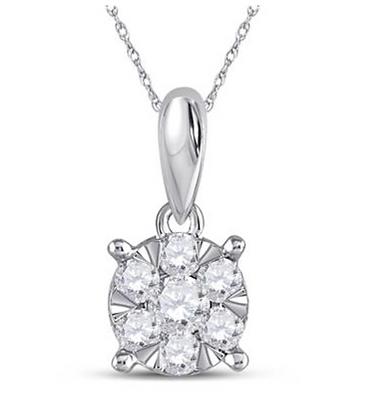 0.25 CTW Diamond Composite Pendant