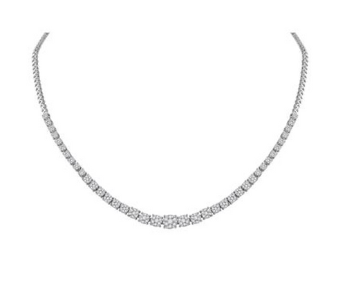 2.35 CTW Diamond Composite Graduated Necklaces