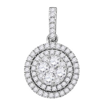 0.90 CTW Diamond Composite Pendant