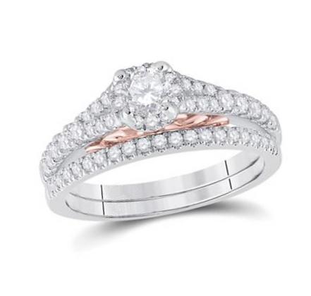 0.90 CTW Certified Diamond Bridal Set
