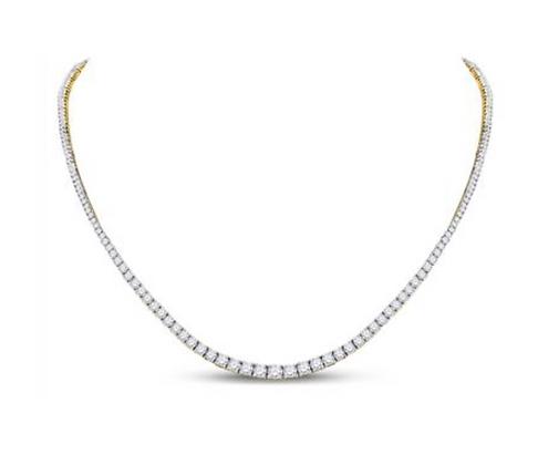 9.00 CTW Diamond Solitaire Graduated Necklaces