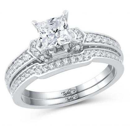 1.62 CTW (1.00 CTR) Diamond Tasha R Bridal Set