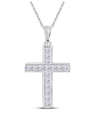 0.65 CTW Diamond Cross Pendant