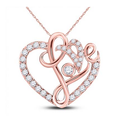 0.35 CTW Diamond Heart Pendant