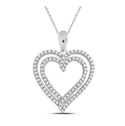 0.50 CTW Diamond Heart Pendant