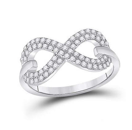 0.35 CTW Diamond Infinity Ring