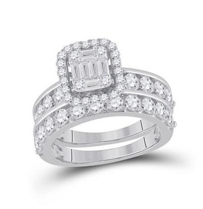2.20 CTW Diamond Bridal Set