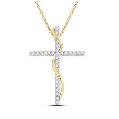 0.50 CTW Diamond Cross Pendant