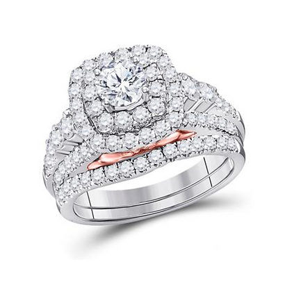 2.00 CTW Certified Diamond Bridal Set